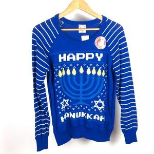 Well Worn Women's Happy Hanukkah Ugly Sweater 1097